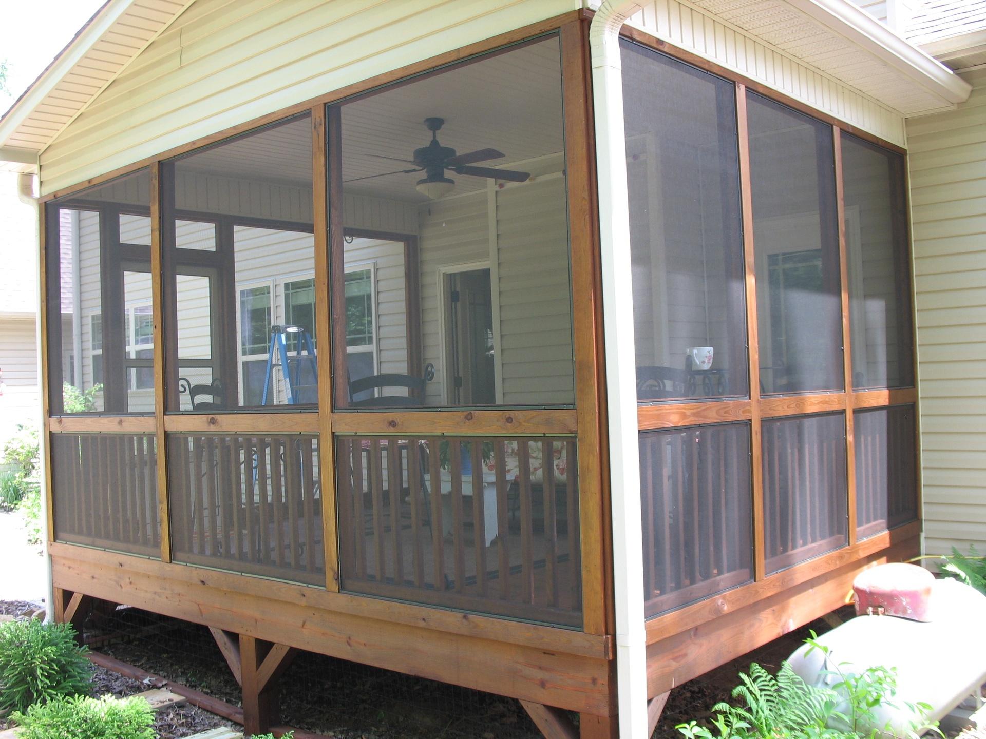 removable screened porch panels garner north carolina